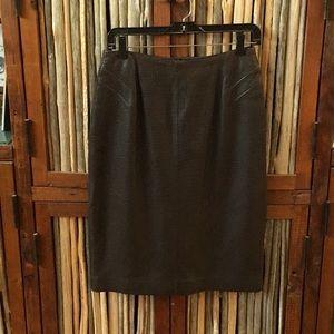 GUC Liz Claiborne Leather Pencil Skirt